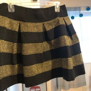 Black and Gold Skirt